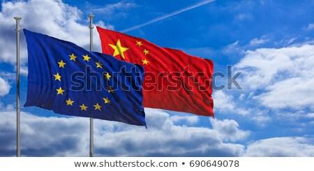Dos banderas China ue aislado Foto stock © MikhailMishchenko