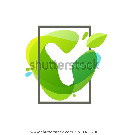letter y water drop icon vector Stock photo © blaskorizov