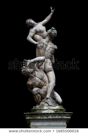 statue abduction of a sabine woman in florence italy stock photo © boggy