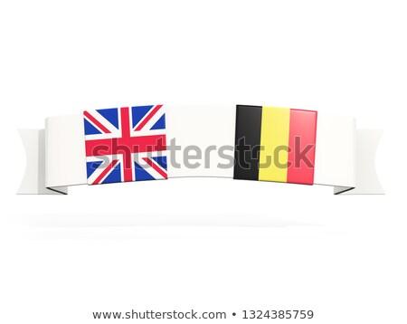 Bandeira dois praça bandeiras Reino Unido Bélgica Foto stock © MikhailMishchenko