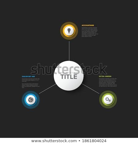 шаблон · три · Элементы · вектора · опции - Сток-фото © orson