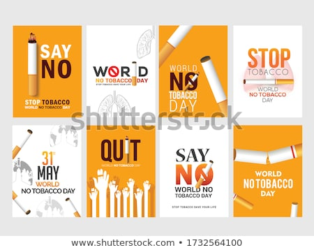 world no tobacco day posters set globe lungs smoke stock photo © robuart