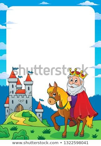 koninklijk · paard · mooie · witte - stockfoto © clairev
