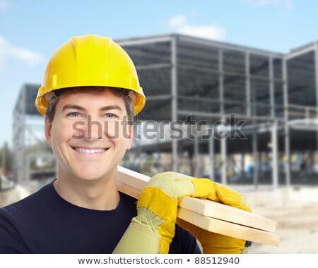 helmet worker men_complex Stock photo © toyotoyo