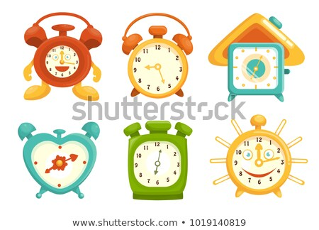 Colorful Clock illustration set Stock photo © Blue_daemon