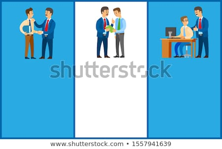 Working Order, Good Job, Boss Giving Instructions Stock photo © robuart
