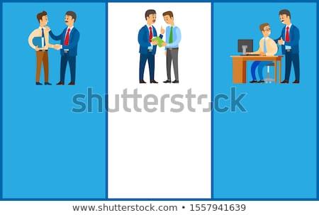 working order good job boss giving instructions stok fotoğraf © robuart
