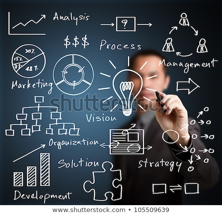 Business Idea and Answers, Man Innovative Solution Stock photo © robuart