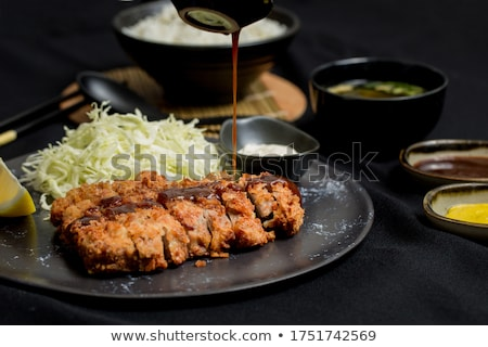 Cutlets and sauce Stock photo © AGfoto
