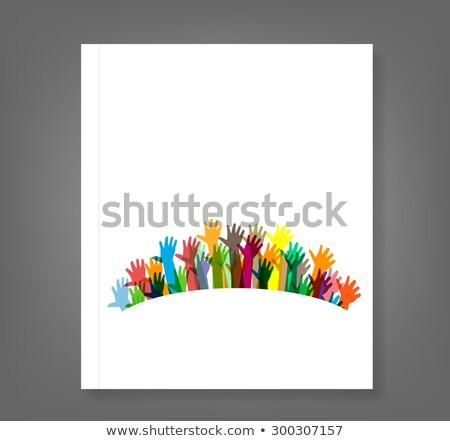 Verschillen kleur boek mensen groep zwart wit Stockfoto © izakowski