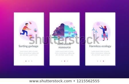Sıfır atık teknoloji iniş sayfa şablon Stok fotoğraf © RAStudio