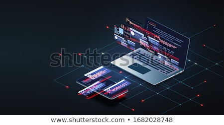 Online Business Web Poster, Processes in Computer Stock photo © robuart