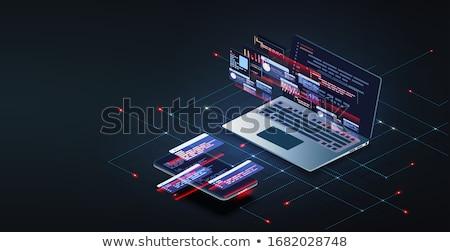 雲 · ストレージ · アプリ · インターフェース · テンプレート · 2 - ストックフォト © robuart