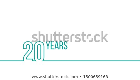 20 years anniversary or birthday. Linear outline graphics. Can be used for printing materials, brouc Stock photo © kyryloff