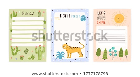 Tiger on note template Stock photo © bluering