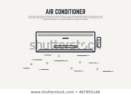 repair air conditioner fan vector thin line icon stock photo © pikepicture