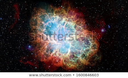 Crab Nebula is a remnant of a star's supernova explosion. Stock photo © NASA_images