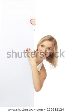 femme · cacher · visage · mains · jeune · femme · isolé - photo stock © nyul