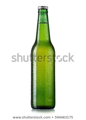 leer · grünen · Bierflasche · Glas · ein · anderer · Tröpfchen - stock foto © albund