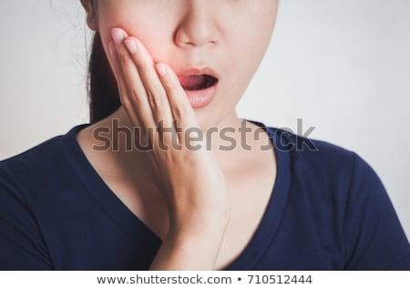 Nő fog fájdalom portré érzékeny fogak Stock fotó © AndreyPopov