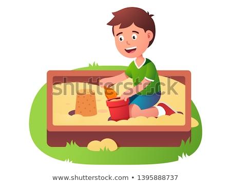 Sandbox and Bucket with Shovel, Playground Vector Stock photo © robuart