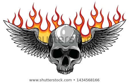 Skull Grim Reaper Vintage Woodcut Illustration Stock photo © Krisdog