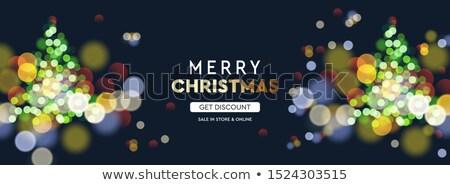 Neujahr Weihnachtsbaum Unschärfe bokeh Wirkung Stock foto © ikopylov