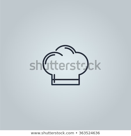 Chef Hat Professional Cooker Clothing Color Vector Stock photo © pikepicture