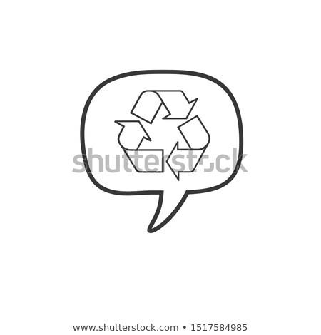 Recyklingu czat bańki ikona projektu czas odizolowany Zdjęcia stock © kyryloff