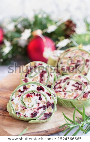 Cranberry Goat Cheese and Walnut Pinwheels  Stock photo © StephanieFrey