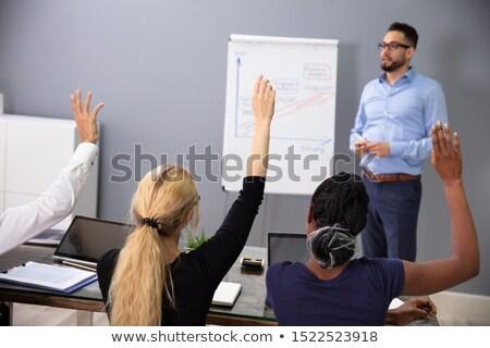 emberek · kéz · kérdez · kérdés · csapat · képzés - stock fotó © andreypopov