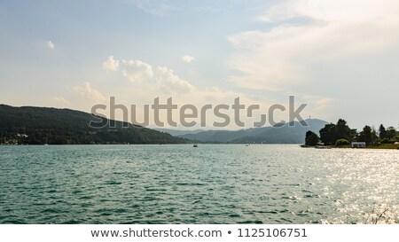 Oostenrijk meer strand hemel water Stockfoto © borisb17