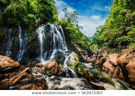 waterfall at sa pa stock photo © t3mujin