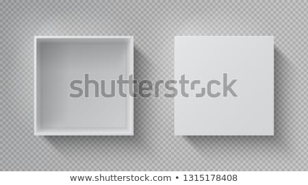 package box with open cap empty container vector stock photo © robuart