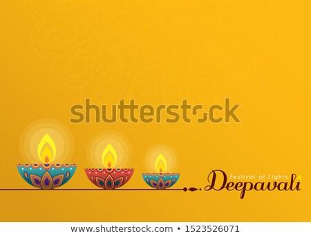 スタイル 幸せ ディワリ 黄色 抽象的な 光 ストックフォト © SArts