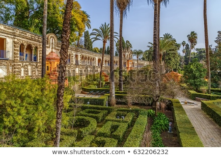 Gallery of Grutescos in Alcazar of Seville , Spain Stock photo © borisb17