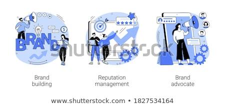 zestaw · ikona · biały · korporacyjnych · tożsamości - zdjęcia stock © rastudio