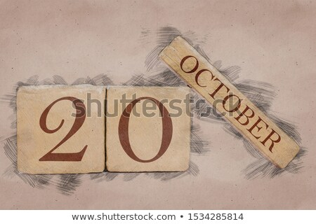 キューブ カレンダー 赤 白 アイコン 表 ストックフォト © Oakozhan