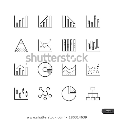 Icons for line graphs, pie charts, bar charts and scatter plot Stock photo © Pixel_hunter