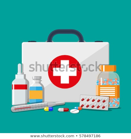 First Aid Kit Set isolated White Background Stock photo © adamson