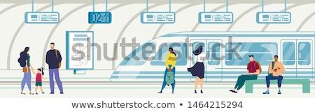 Hombre sesión banco subterráneo estación primer plano Foto stock © nito