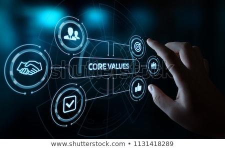 企業 価値観 会社 3次元の図 にログイン ストックフォト © olivier_le_moal