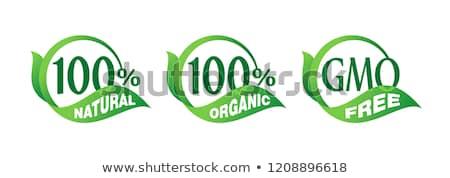 Naturale 100 cento garantire bio Foto d'archivio © robuart