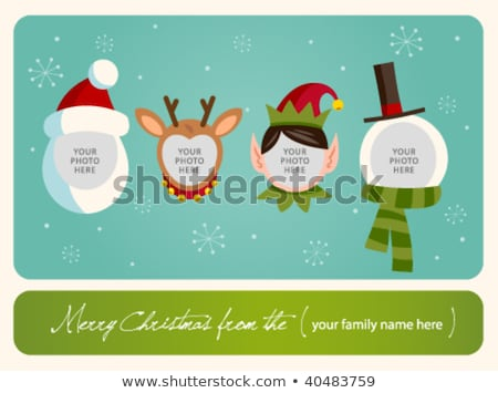Winter Holiday Postcard with Fairy Elf Vector Stock photo © robuart