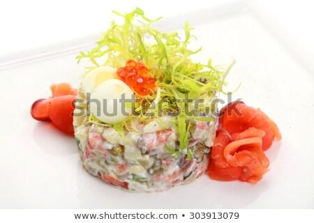 Insalata salmone caviale fresche dieta alimentare Foto d'archivio © tycoon