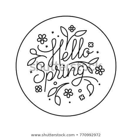 геометрический стиль вектора карт Cute цветы Сток-фото © ussr