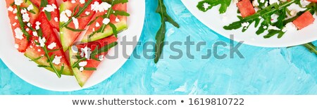 Banner świeże lata arbuz Sałatka Zdjęcia stock © Illia