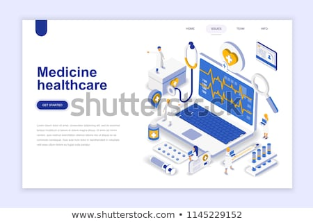 Online Medical Diagnostics Isometric Stock photo © -TAlex-