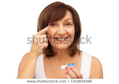 Senior mulher saúde visão Foto stock © dolgachov