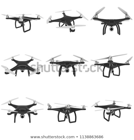 Drone Sets, Helicopters and Propellers Models Set Stock photo © robuart